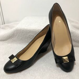 Kate Spade   Cayley Bow Patent Leather Wedges, 8.5